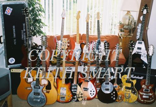 keith smart's guitar collection, Zemaitis, Gibson, Rickenbacker, Fender, Eggle