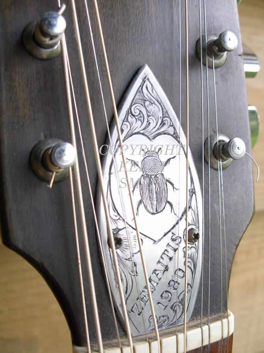 Danny O'Brien's engraving on Zemaitis guitar